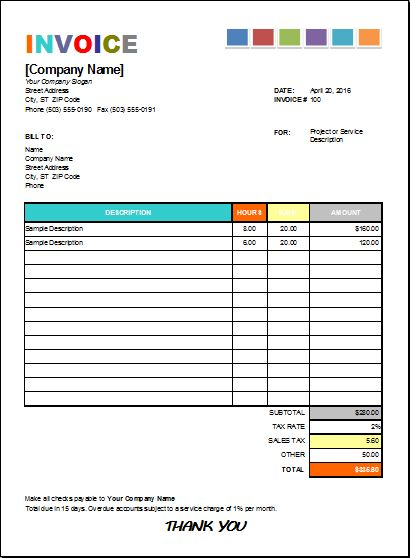 Best Microsoft Excel Invoices Images On   Microsoft