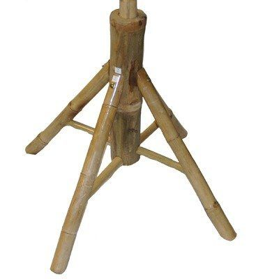 Free Standing Bamboo Umbrella Base by Bamboo. $30.00. Made of Bamboo. Some assembly requried. 30 in. W x 2 ft. H. Knockdown bamboo umbrella stand. 5460 Features: -Made from real bamboo.-4 sturdy legs.-Holds most market umbrellas.-Knockdown design for easy set up. Dimensions: -Dimensions: 24'' H x 30'' W.. Save 25% Off!