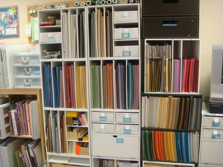 Craft Room Storage And Organization Ideas | Carolynu0027s Creative Corner:  Craft Room Organization 2012