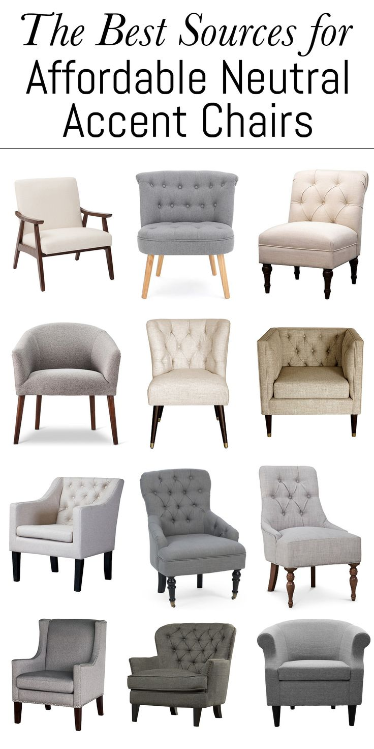 WOW! These Are The Absolute Best Sources For Affordable Neutral Accent  Chairs. You Can