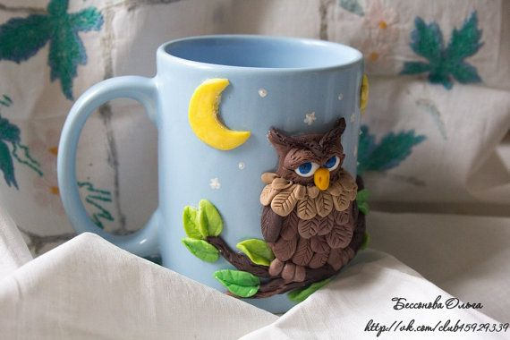 cup mug with the decor baby cup souvenir gift by OlechkaDesigns