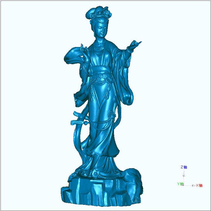 3D carved figure sculpture 3d model for cnc machine in STL file format Fairy_02 #Affiliate