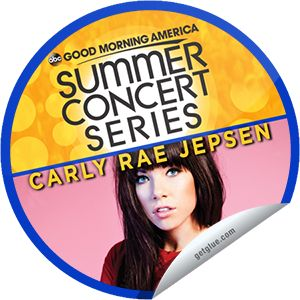 Originals by Italia Carly Rae Jepsen on GMA's Concert Series on June 14! sticker - GetGlue