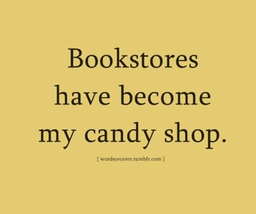 although a bag of candy WITH my books is always welcome