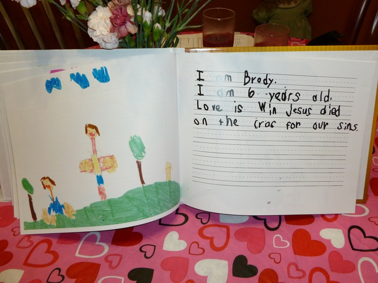Sample page from class book: Love Is  written and illustrated by Mrs. DeArk's Kindergarten class 2011-2012Kindergarten Class, Deark Kindergarten