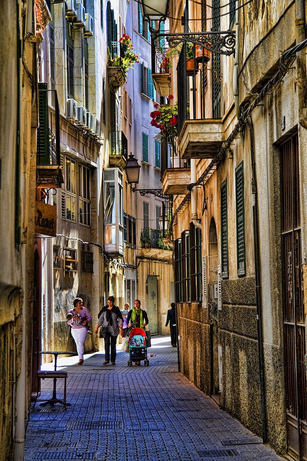 Palma Mallorca Majorca, Spain...beautiful streets...lots of shops and boutiques, restaurants, al fresco cafes