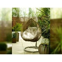 Hanging Rattan Egg Chair by Living it Up | Living It Up