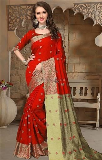 Aesthetic Red Raw Silk Cheap Saree For Indian Women Printed  To View More Designs:- http://www.designersandyou.com/saree-blouse/casual-sarees  #DesignersAndYou #Sarees #SareeBlouse #Saree #DesignerSarees #BuySareesOnline #SareesDesigns #LatestSarees #CasualSarees #CheapSarees #BeautifulSarees #SareesIndia #LaceSarees #SareeswithPrice #DesignerSaree #DesignerSareeBlouse #CasualSaree #CasualSareeBlouse #LatestSaree #LatestSareeBlouse #BuySareeOnline #BuySareeBlouseOnline #BeautifulSaree…