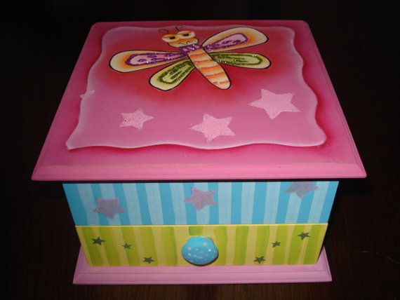 jewelry box for girls by bethmiriamcrafts on Etsy