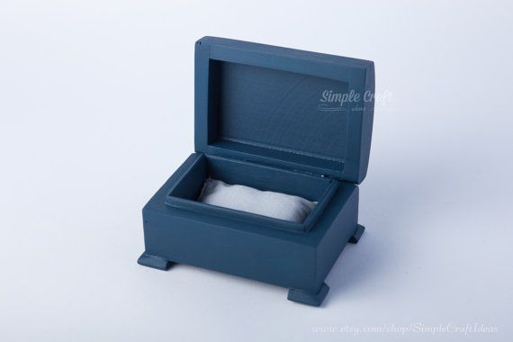 Navy Blue Ring Box, Great Accessories for your wedding. Wedding favors rustic ring bearer box ring by SimpleCraftIdeas