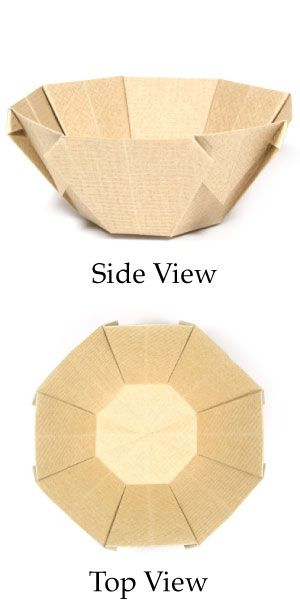 How to make a 3D origami bowl (http://www.origami-make.org/origami-bowl-3d.php)