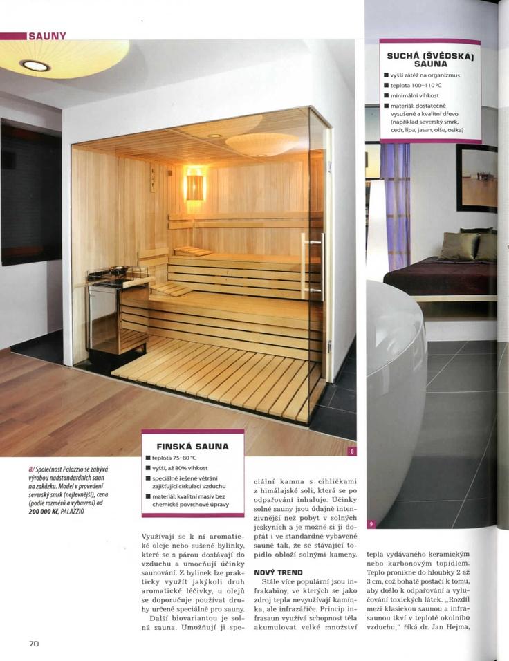 Naše infrasauny v časopisu Svět koupelen, strana 4. [12/12]