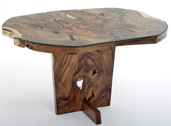 Natural Wood Dining Table With Vibrant Ideas: Natural Furniture Round Or Oval Dining Table With Glass Base Design With Charming Ideas