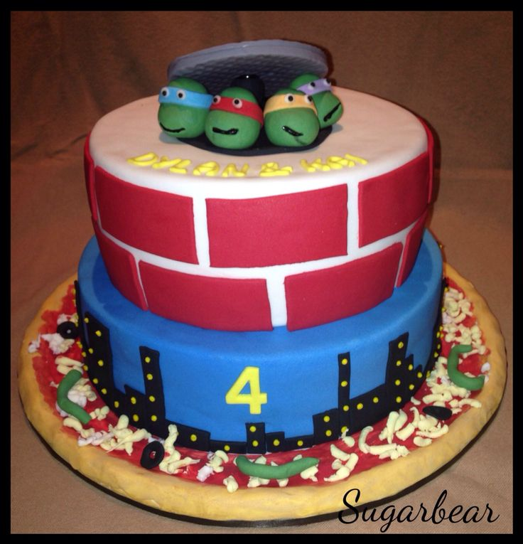 TMNT cake. Love this one