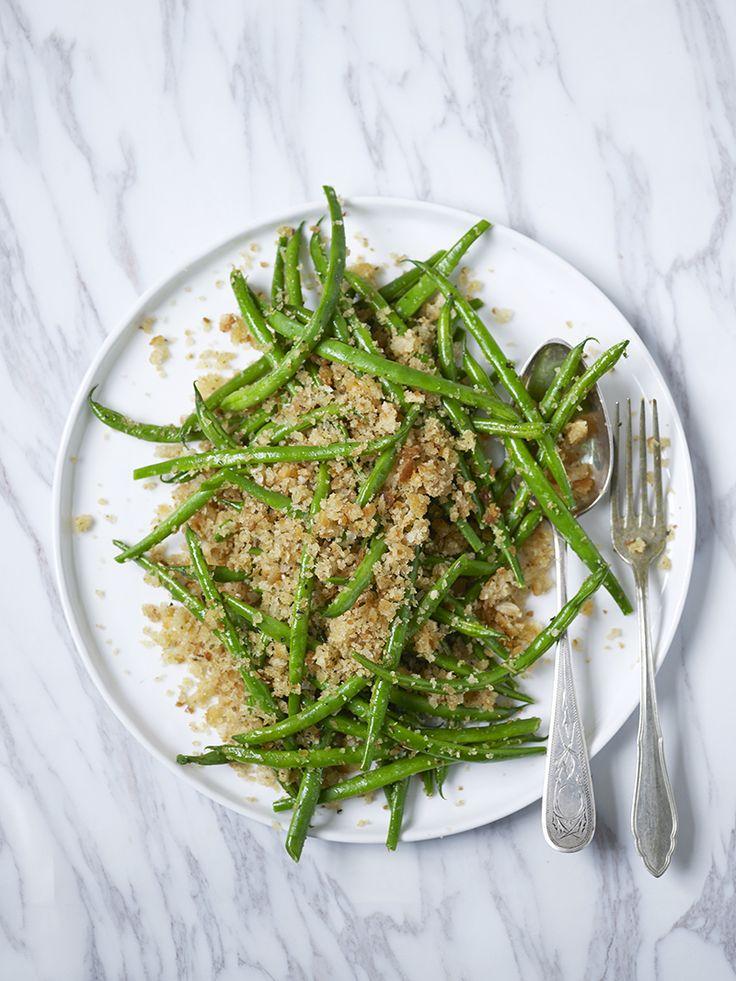 Bilde av og oppskrift på fransk bønnesalat. Food styling.