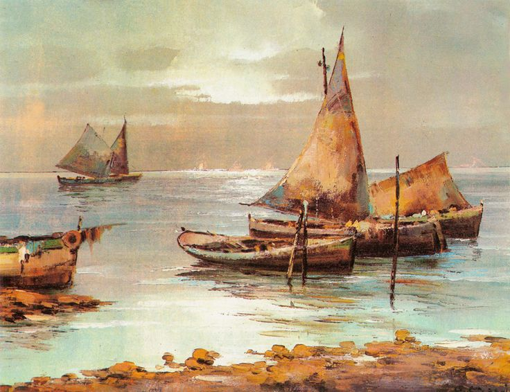 Fishing Boats (Reprint on Paper - Unframed)