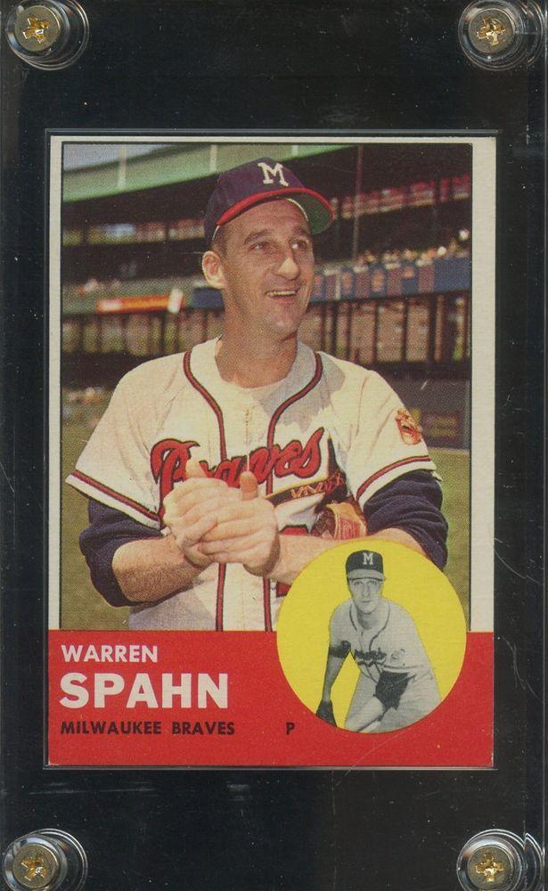 1963 Topps 320 Warren Spahn Hof Milwaukee Braves Baseball