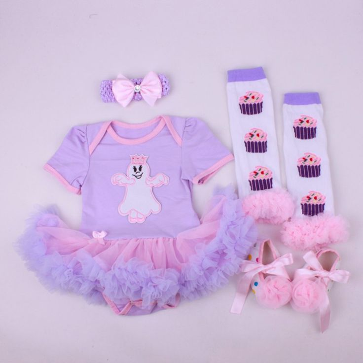 >> Click to Buy << 4PCs per Set Baby Girls' Halloween Ghost Purple Tutu Dress Infant 1st Cosplay Costume Headband Shoes Leg Warmers #Affiliate