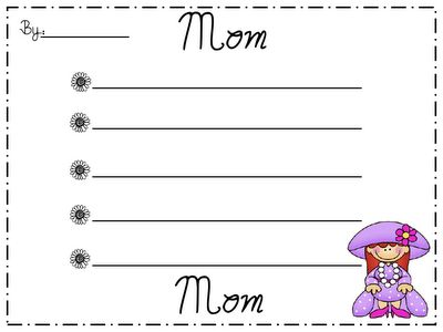 "a list of things about mom & ""my mommy cooks..."""