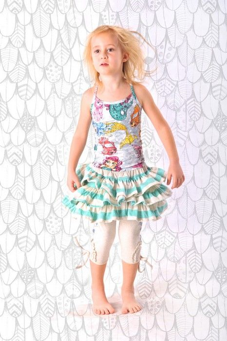 Paper Wings Summer 14Paper Wings Girls Fitted Mermaid Singlet