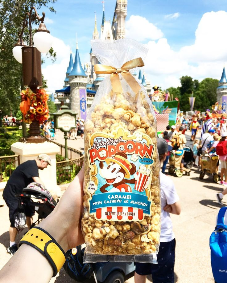 Magic Band on and popcorn in tow | Magic Kingdom | Disney World Resort