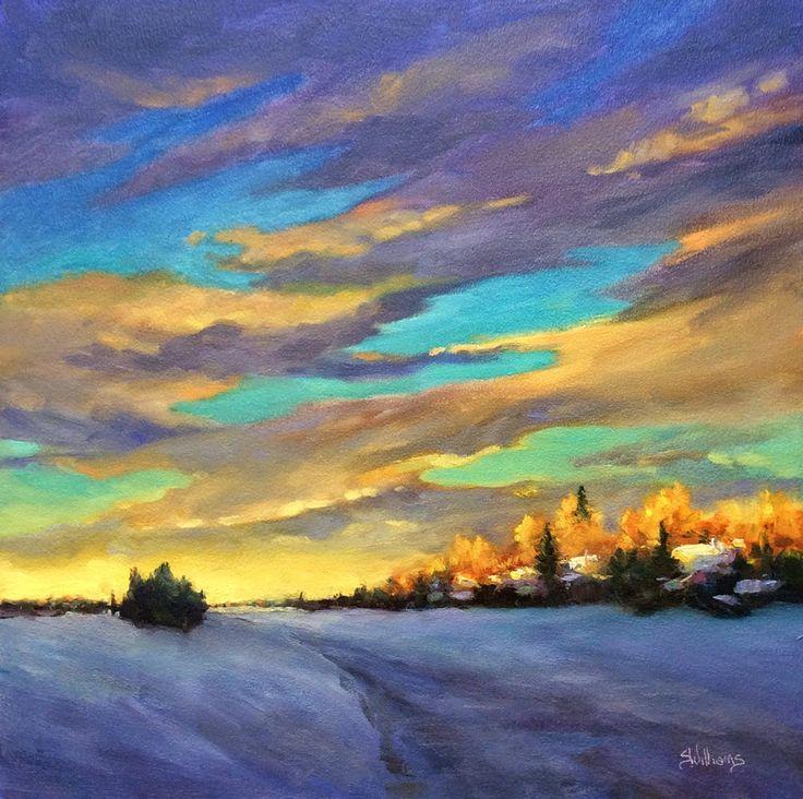 "Sharon Lynn Williams' Art Blog: ""Winter Splendour"" first painitng of 2015, by Sharon Lynn Williams"