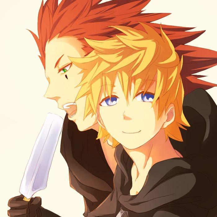 Pixiv Id 2975051, Kingdom Hearts 358/2 Days, Kingdom Hearts, Kingdom Hearts II, Roxas, Axel (Kingdom Hearts)