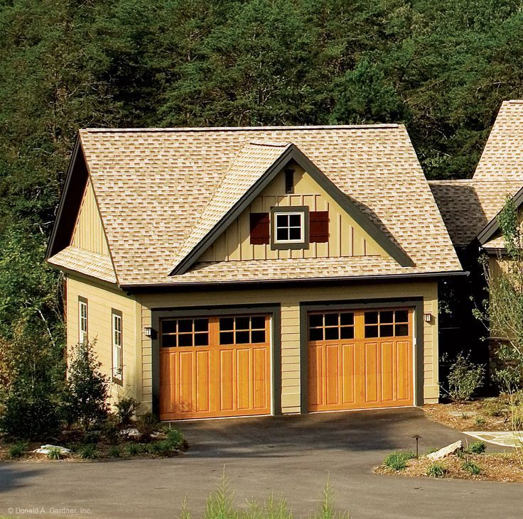 This craftsman style home has an optional detached two for Home plans with detached garage