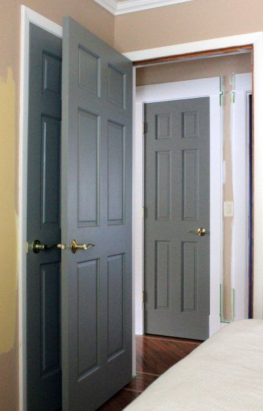 25 best ideas about painted interior doors on pinterest dark interior doors revere pewter - Gray interior paint ...