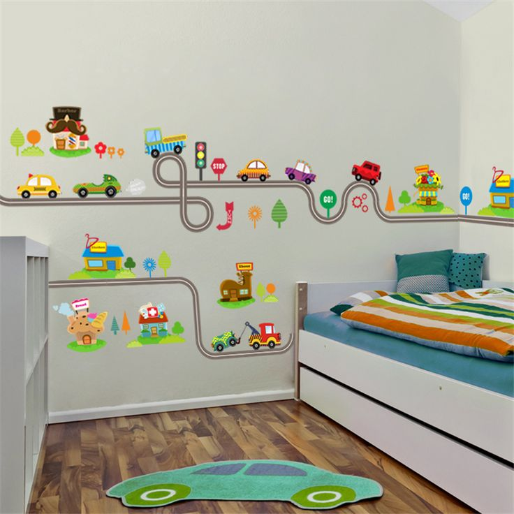 <Jan offer, click image to buy> Cartoon Cars Highway Track Wall Stickers For Kids Rooms Sticker Children's Play Room Bedroom Decor Wall Art Decals ** Locate this beautiful piece simply by clicking the VISIT button