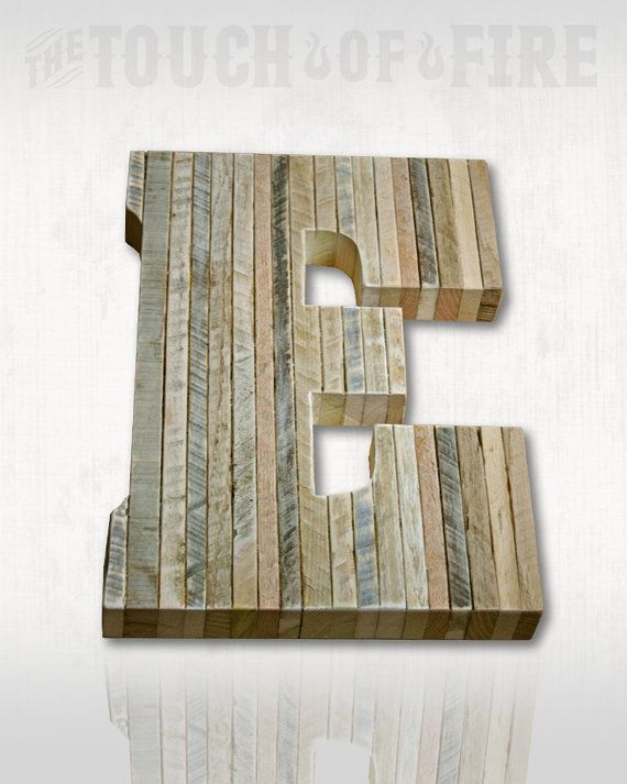 Pallet Letters. A to Z. Rustic Edge Rustic by TheTouchofFire