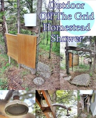 The Homestead Survival | Outdoor Off The Grid Homestead Shower | Homesteading http://thehomesteadsurvival.com