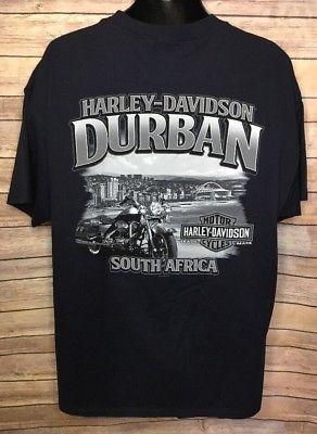 Harley Davidson T Shirt Men's Size XL S/S Durban South Africa 2015