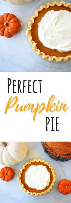 Perfect Pumpkin Pie. Creamy, silky filling in an all butter flaky pie crust.