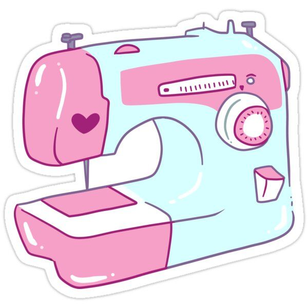 Pretty Sewing Machine Sticker In 2020 Kawaii Stickers Sewing Clipart Cute Stickers