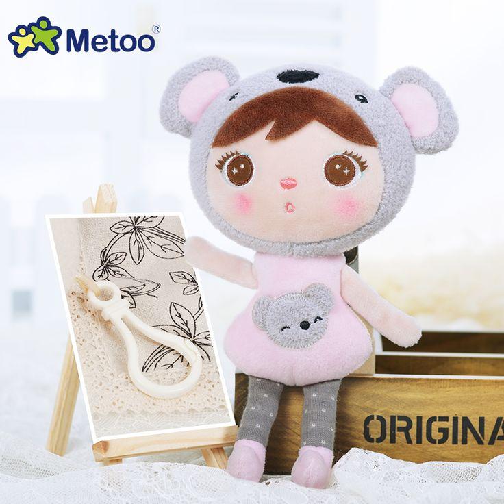 Peluş tatlı sevimli dolması kız doğum günü noel için sırt çantası kolye bebek çocuk toys brinquedos bonecas keppel bebek metoo doll
