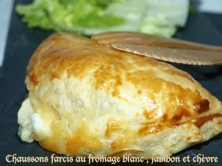 Chaussons farcis au fromage blanc, jambon et chèvre