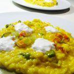 » Risotto con crema di zucca e gorgonzola – Pumpkin cream and gorgonzola cheese risotto