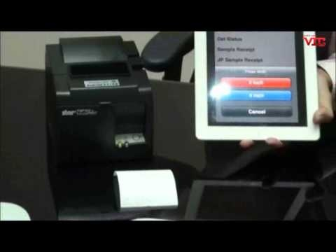 STAR TSP100 connected to iPad demonstration  Ethernet Receipt Printer for iPad, iPhone, iPod Touch, Android Smartphone, Tablet.