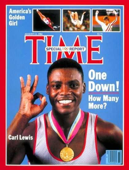 Well deserved!  Carl Lewis was voted Sportsman of the Century by the International Olympic Committee IOC.