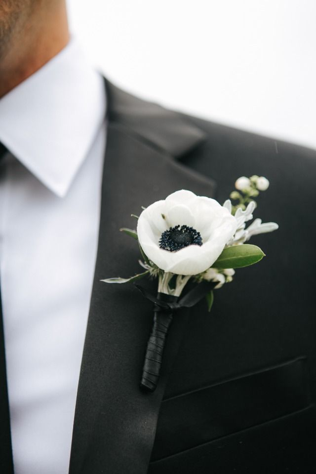 Chic boutonniere for the groom                                                                                                                                                                                 More