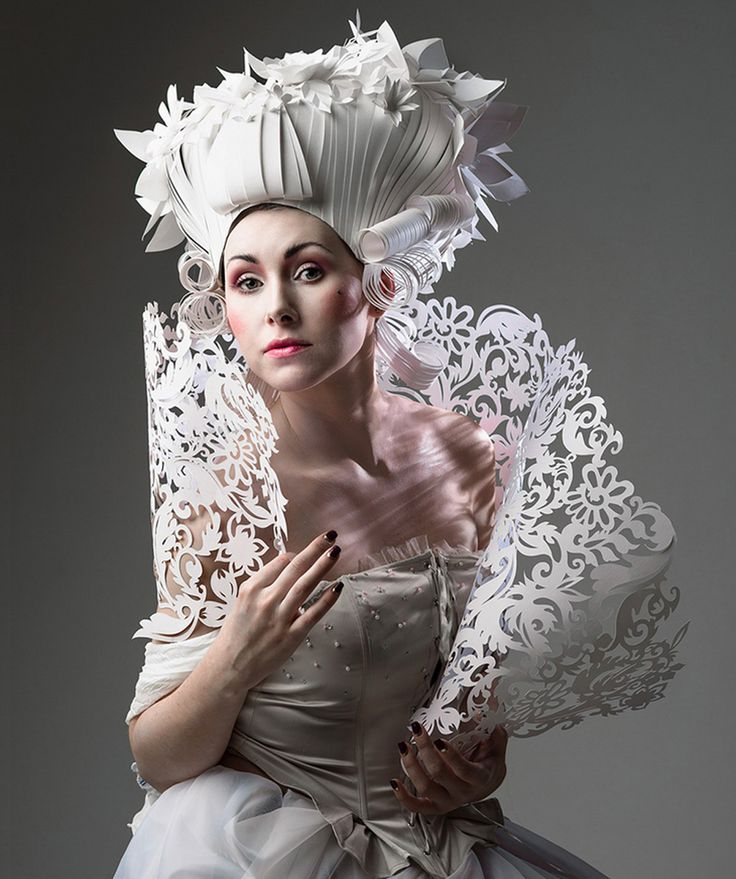 Artist Asya Kozina Creates Elaborate Baroque Wigs Entirely Out Of Paper