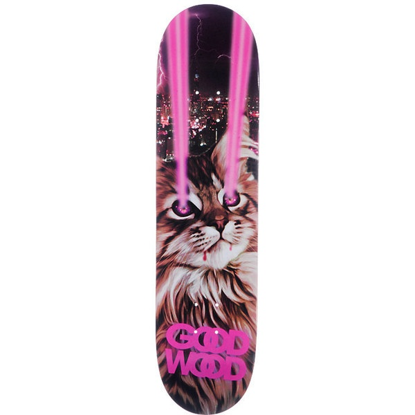 Goodwood Hey Kitty 8.0 Skateboard Deck ($25) ❤ liked on Polyvore