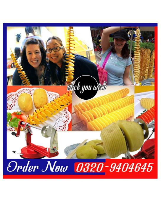 SPIRAL POTATO CUTTER IN PAKISTAN  Call / SMS / Whatsapp 0320-9404645  www.clickyouwish.com  https://www.facebook.com/clickyouwish
