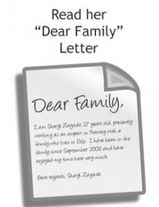 Dear family - levél minta