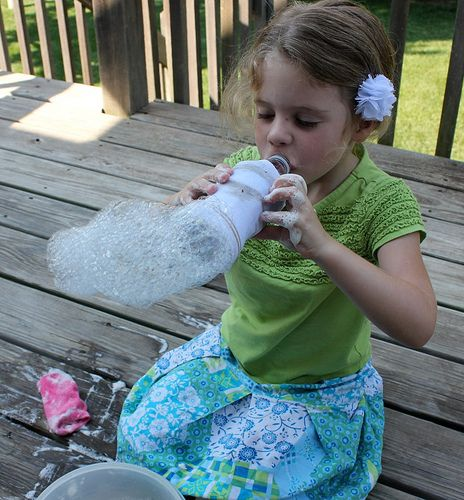 4 Weeks of Frugal Family Fun: Sock Bubbles (Day 8)