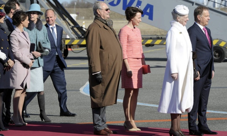 4-4-13. Queen Margrethe and Prince Henrik of welcome Finland's President auli Niinistö Väinämö and Mrs Jenni Elina Haukio for a state visit to Denmark