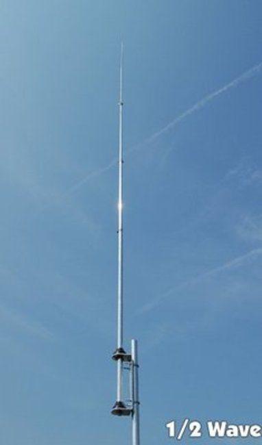 CB Feststationsantenne Frequenz 26-28 MHz. abstimmbar 1/2 Lambda Ground Plane max. Belastung 300 Watt Gewinn ca. 3 dB preiswerte robuste Aluminiumausführung PL Buchse Länge 550 cm keine Radiale...
