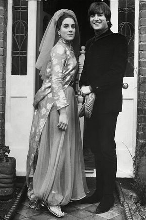 Eleanor Bron with John Lennon on the set of Help! in 1965