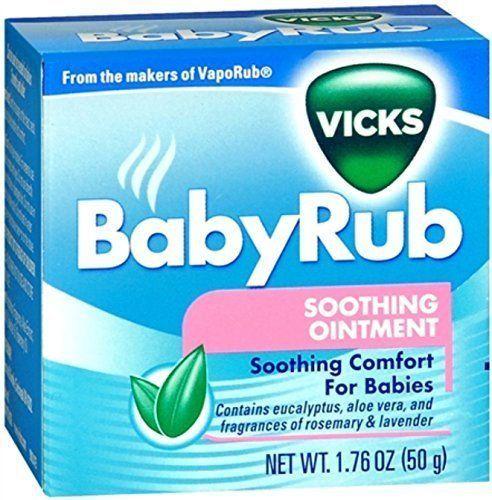 VICKS BABY RUB 50 GM 1.76 oz #Vicks